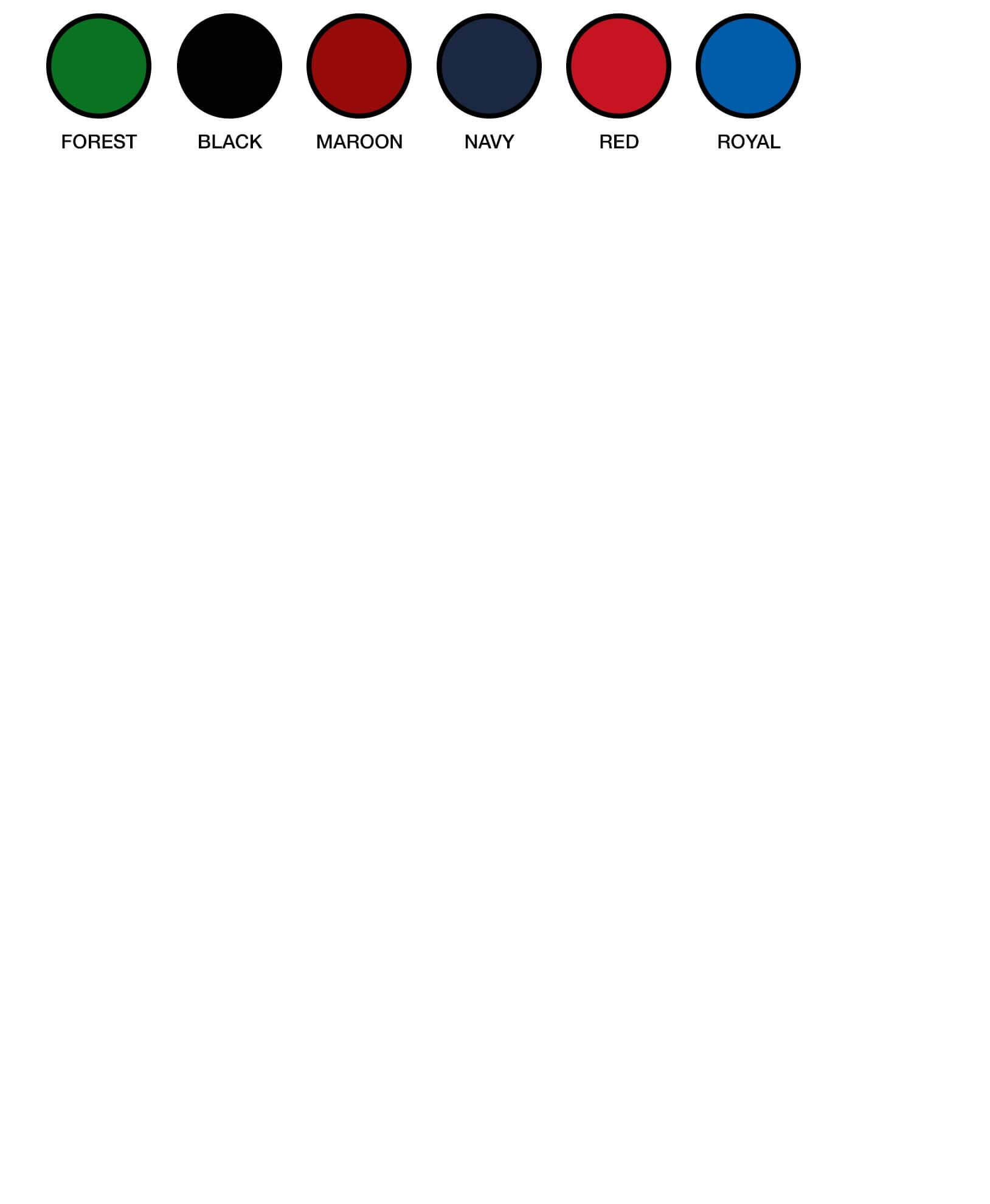 TP3160 Colour Options