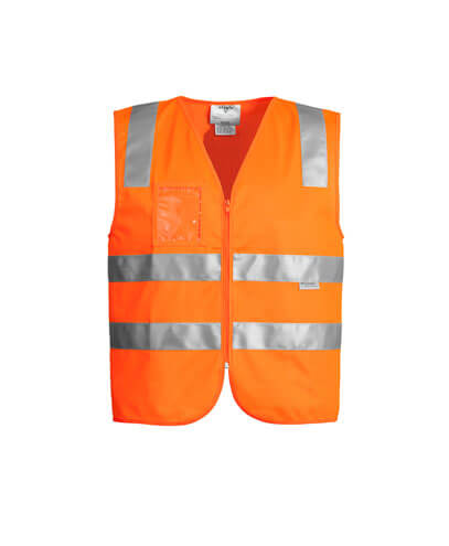 ZV998 Adults Hi Vis Full Zip Vest - Orange