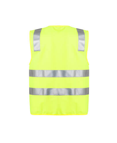 ZV998 Adults Hi Vis Full Zip Vest - Yellow Back