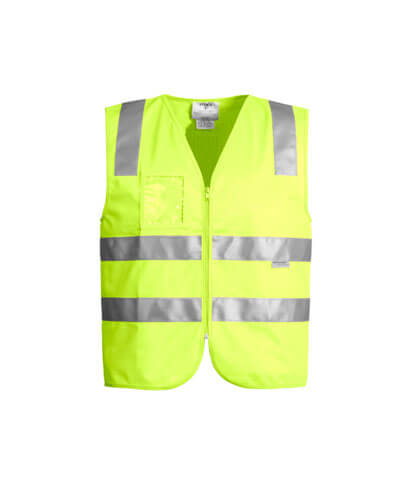 ZV998 Adults Hi Vis Full Zip Vest - Yellow