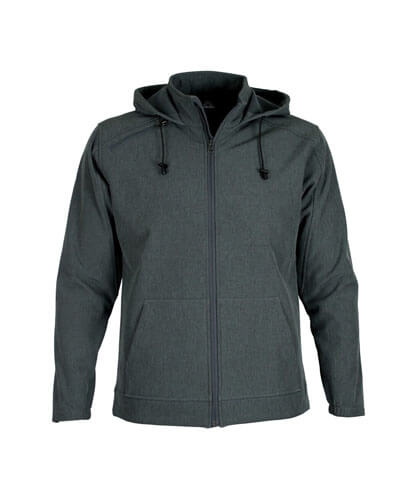 AHS Adults 3K Softshell Hoodie - Charcoal