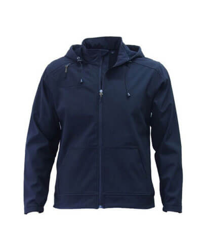 AHS Adults 3K Softshell Hoodie - Navy