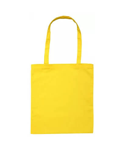 B109 Long Handled Calico Bag - Yellow