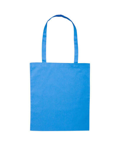 B109 Long Handled Calico Bag - Aqua