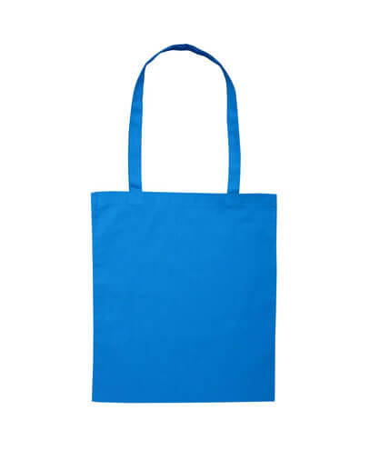 B109 Long Handled Calico Bag - Blue