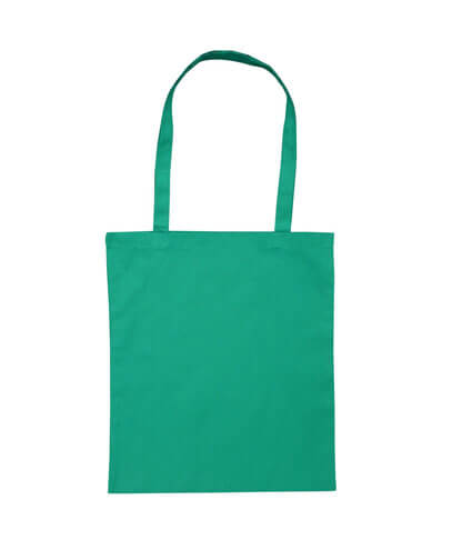B109 Long Handled Calico Bag - Green