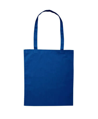 B109 Long Handled Calico Bag - Navy