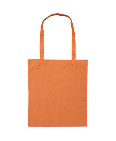 B109 Long Handled Calico Bag - Orange