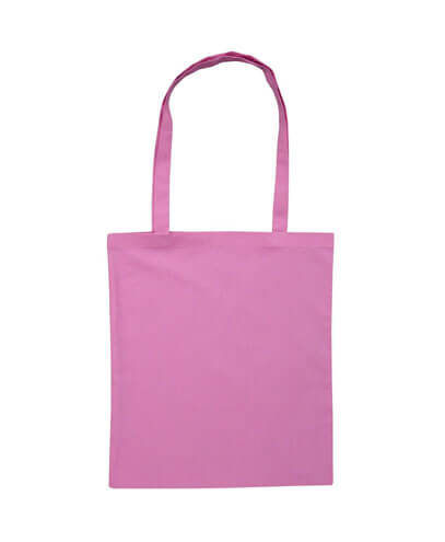 B109 Long Handled Calico Bag - Pink
