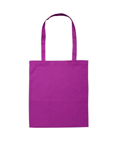 B109 Long Handled Calico Bag - Purple