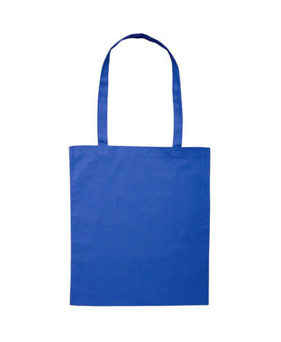 B109 Long Handled Calico Bag - Royal