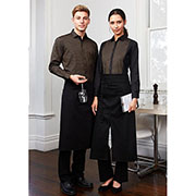 BA92 Bistro Apron - Worn by Male and Female Models