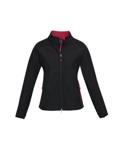 J307L Womens Geneva Jacket - Black/Red