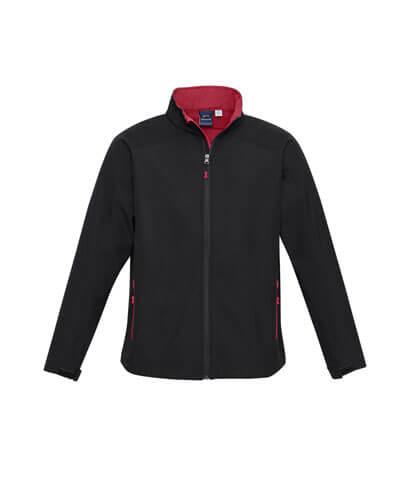 J307M Mens Geneva Jacket - Black/Red