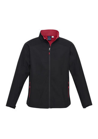 J307M Mens Geneva Jacket - Black/Red