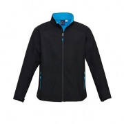 J307M Mens Geneva Jacket - Black/Cyan