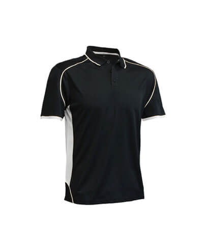 MPP-K Kids Matchpace Polo - Black/White