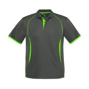 P405MS Mens Razor Polo - Grey/Lime