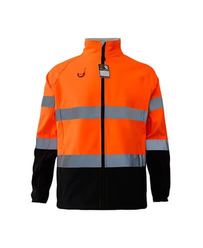 R450X Adults Hi Viz Softshell Jacket - Safety Orange