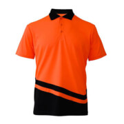 R463X Adults Peak Performance Polo - Orange/Black