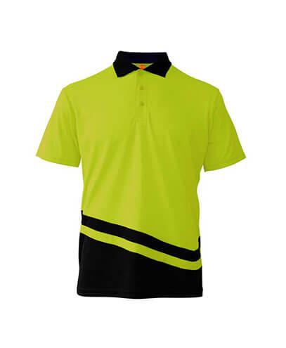 R463X Adults Peak Performance Polo - Yellow/Black