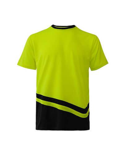 R464X Adults Peak Performance Hi Vis T-Shirt - Yellow/Black