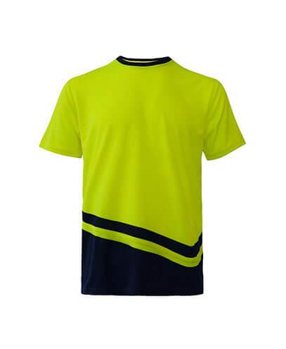 R464X Adults Peak Performance Hi Vis T-Shirt - Yellow/Navy