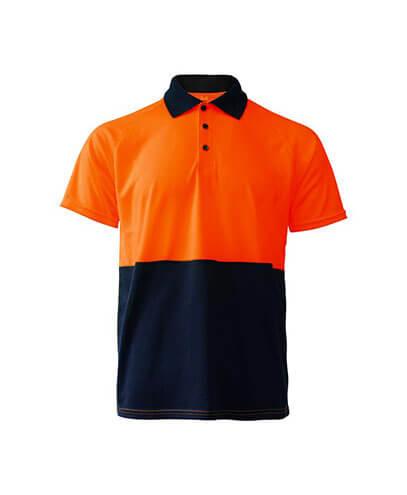 R466X Adults Workguard Basic Polo - Orange/Navy