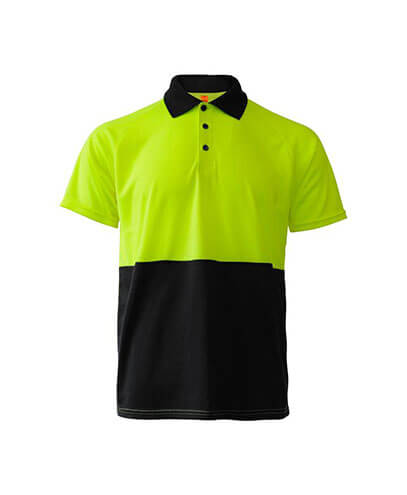 R466X Adults Workguard Basic Polo - Yellow/Black