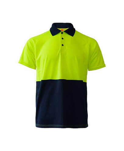 R466X Adults Workguard Basic Polo - Yellow/Navy