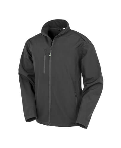 R900X Adults Recycled Softshell Jacket - Black