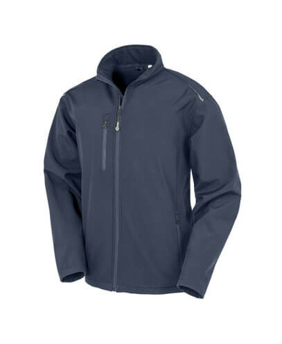 R900X Adults Recycled Softshell Jacket - Navy