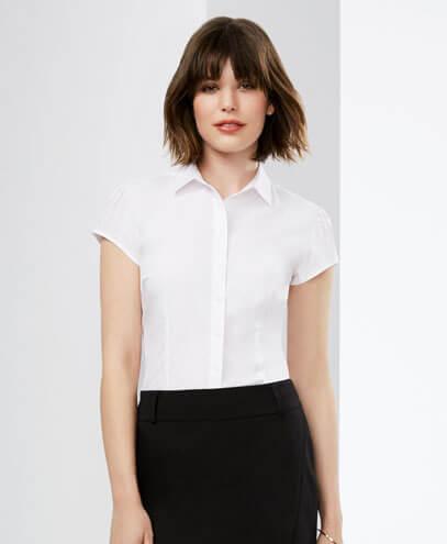 S812LS Womens Euro Short Sleeve Shirt - Worn