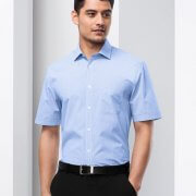 S812MS Mens Euro Short Sleeve Shirt - Worn