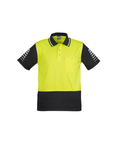 ZH236 Hi Viz Zone Polo - Yellow/Charcoal
