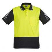 ZH236 Hi Viz Zone Polo - Yellow/Charcoal
