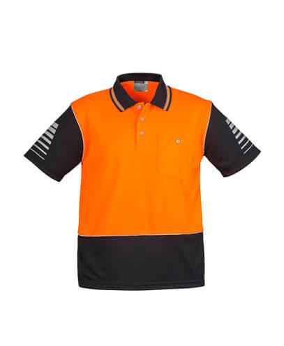ZH236 Mens Hi Viz Zone Polo - Orange/Black