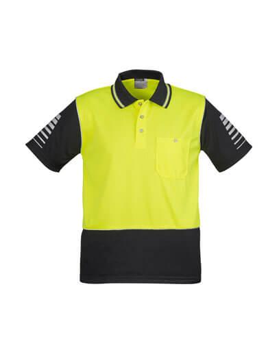 ZH236 Mens Hi Viz Zone Polo - Yellow/Black