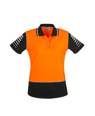 ZHL236 Womens Hi Viz Zone Polo - Orange/Black