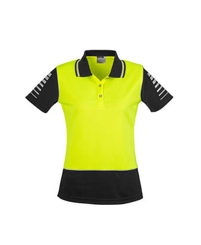 ZHL236 Womens Hi Viz Zone Polo - Yellow/Black