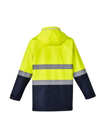 ZJ220 Adults Hi Viz Basic 4 in 1 Waterproof Jacket - Back