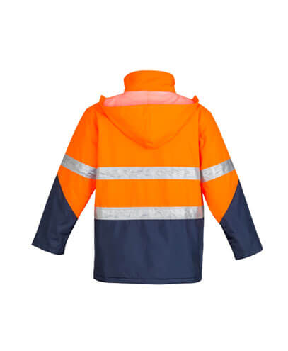 ZJ350 Adults Hi Viz Storm Jacket - Back