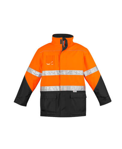 ZJ350 Adults Hi Viz Storm Jacket - Orange/Black