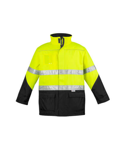 ZJ350 Adults Hi Viz Storm Jacket - Yellow/Black