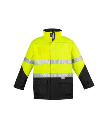 ZJ350 Adults Hi Viz Storm Jacket - Yellow/Black