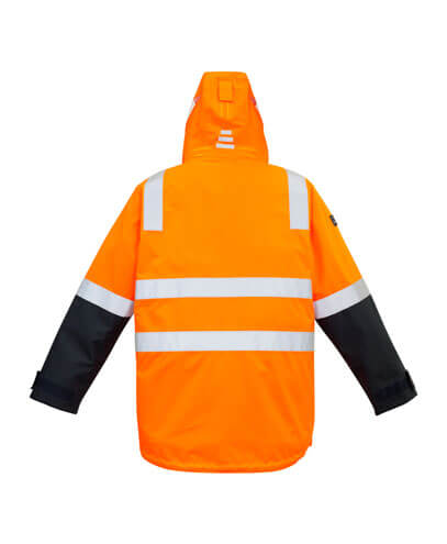 ZJ532 Adults Hi Viz 4 in 1 Waterproof Jacket - Back