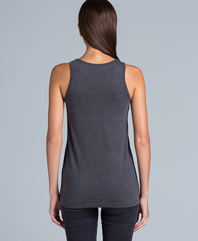 4040 Womens Tulip Singlet - Back View on Female Model