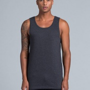 5007 Mens Lowdown Singlet - Worn by Male Model