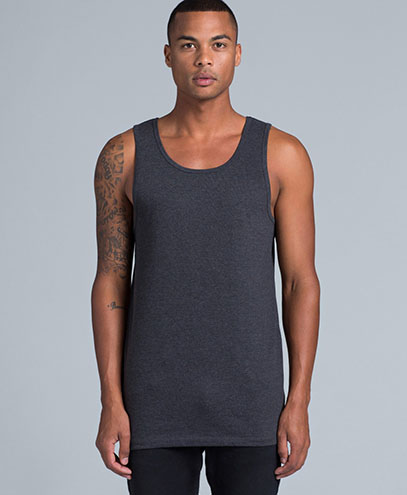 5007 Mens Lowdown Singlet - Front