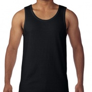 5200 Mens Basic Singlet - Black